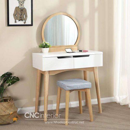 mẫu bàn trang điểm bằng gỗ 1