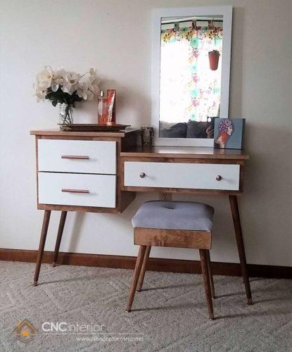 mẫu bàn trang điểm bằng gỗ 13