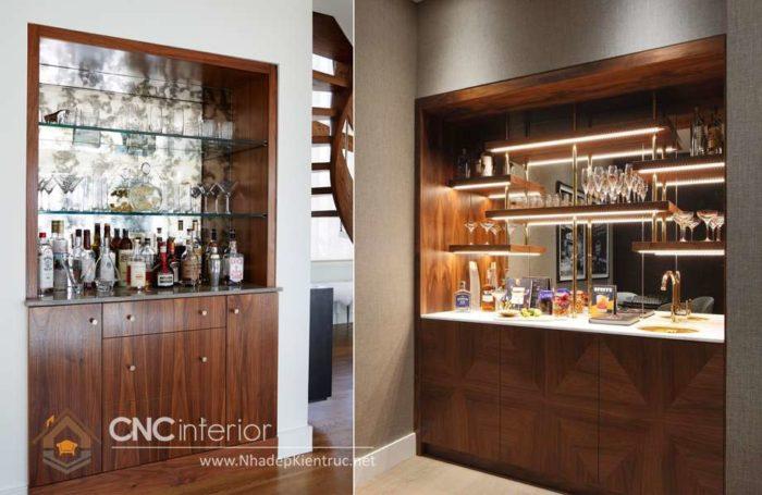Mẫu tủ rượu âm tường phòng khách đẹp 22