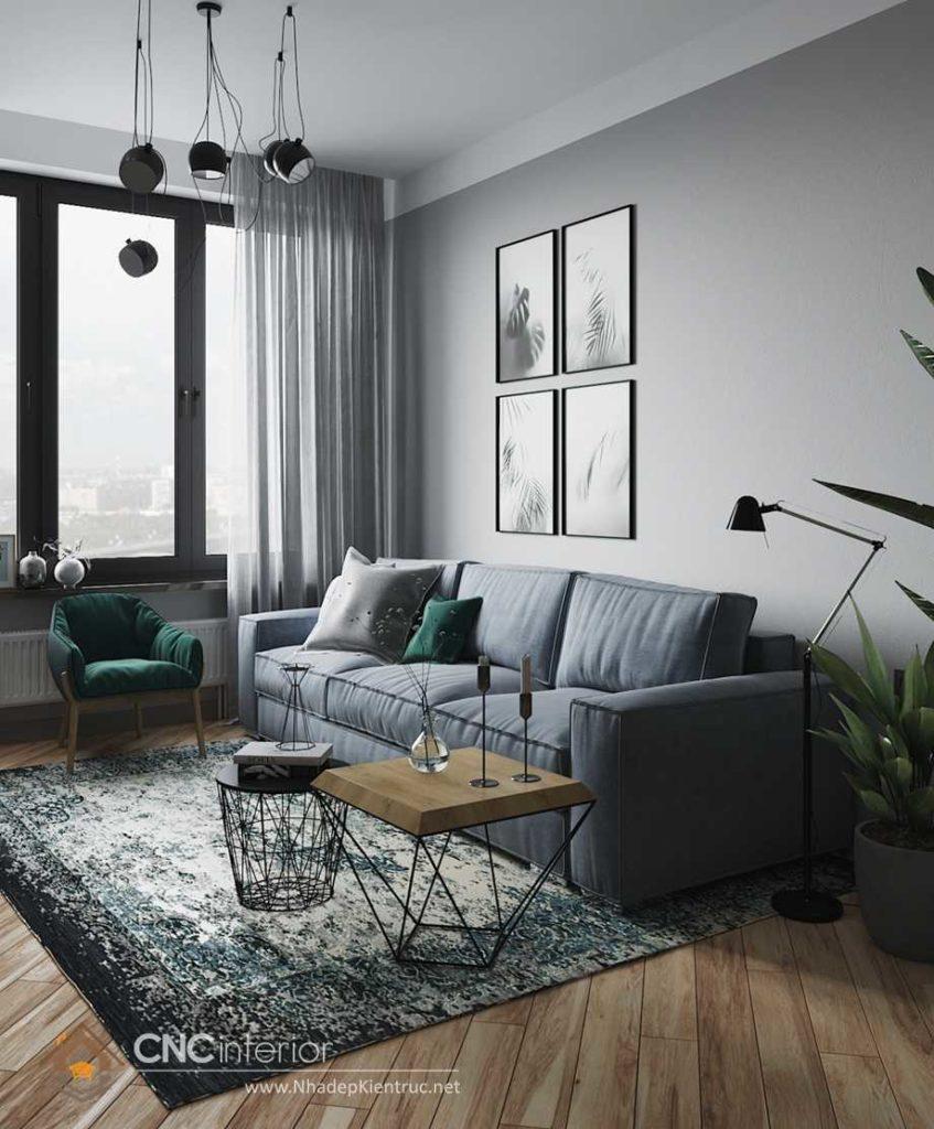 màu sơn phòng khách hiện đại 10