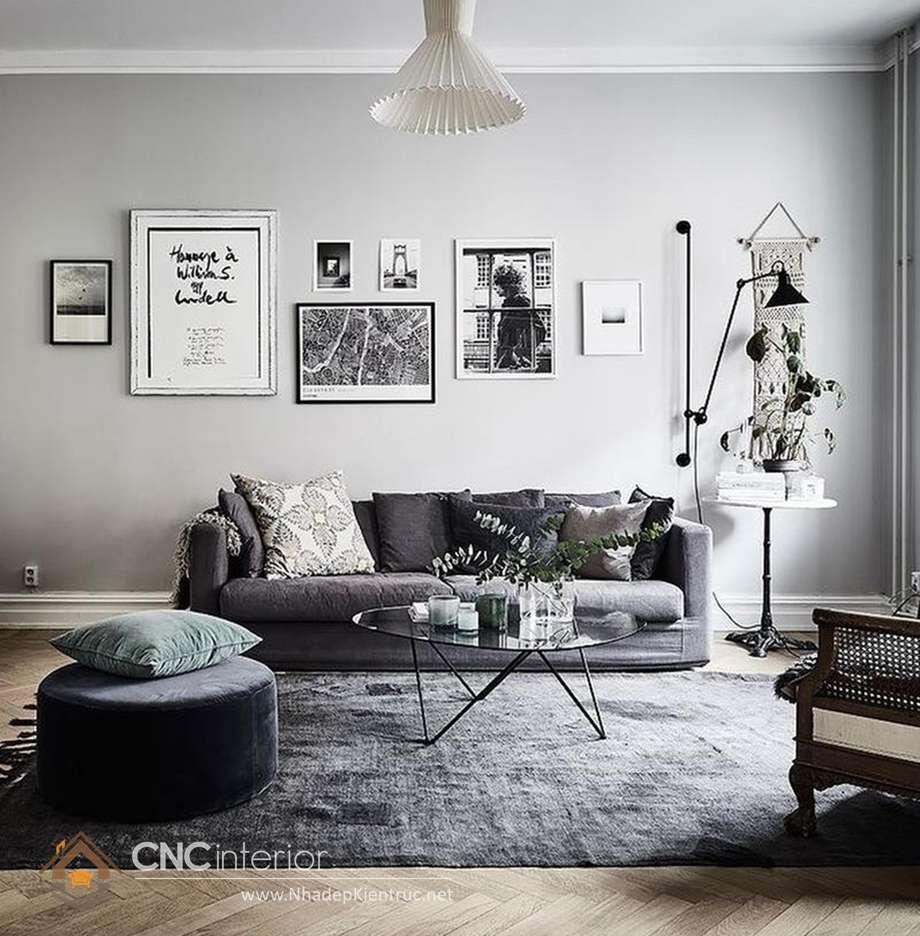 cách phối màu sơn phòng khách 2