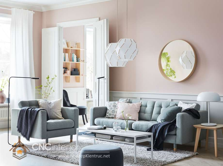 cách phối màu sơn phòng khách 3