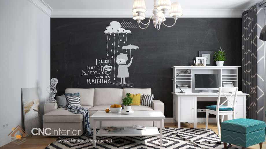 cách phối màu sơn phòng khách 6