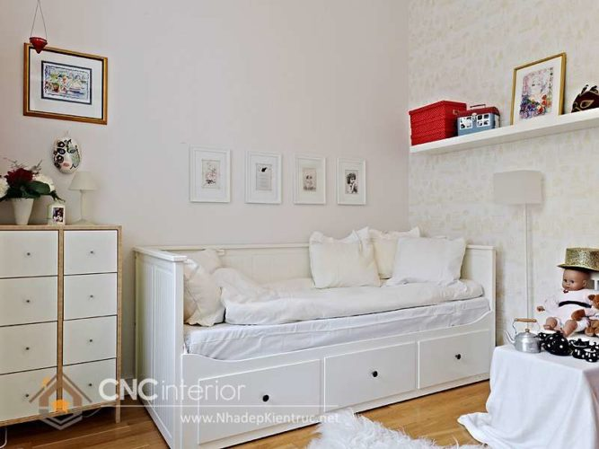 giường gỗ công nghiệp có ngắn kéo 15