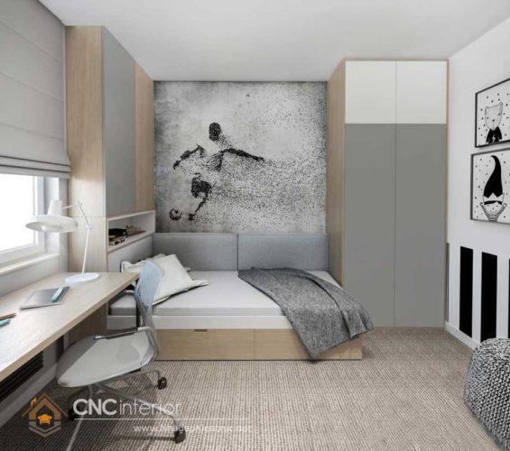 giường gỗ công nghiệp có ngắn kéo 16
