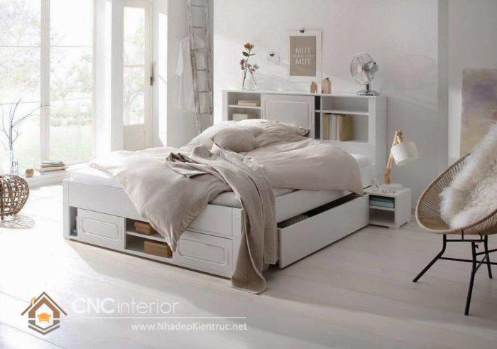 giường gỗ công nghiệp có ngắn kéo 18