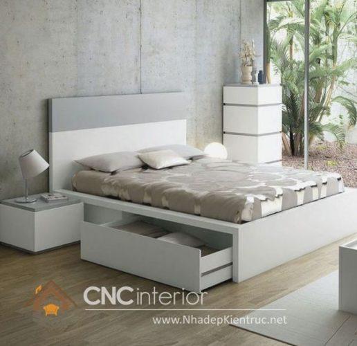 giường gỗ công nghiệp có ngắn kéo 20