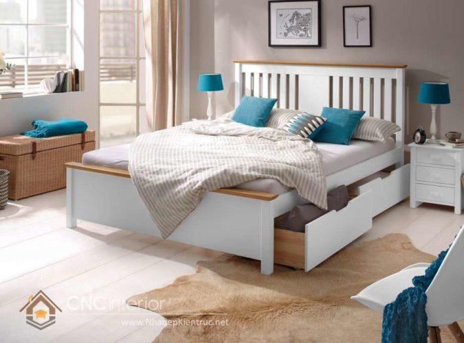 giường gỗ công nghiệp có ngắn kéo 3