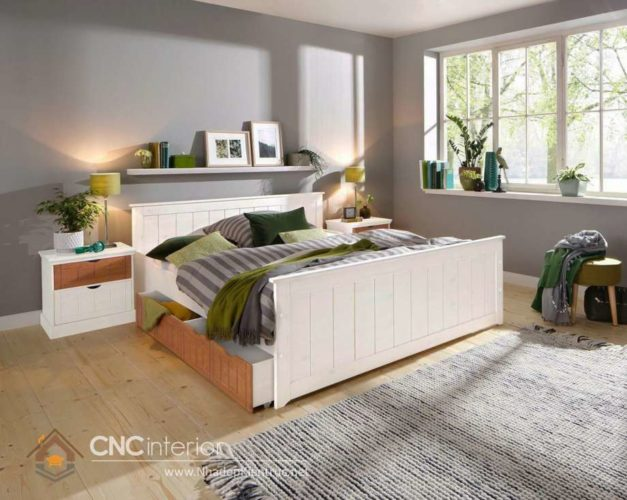 giường gỗ công nghiệp có ngắn kéo 4