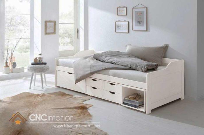 giường gỗ công nghiệp có ngắn kéo 5