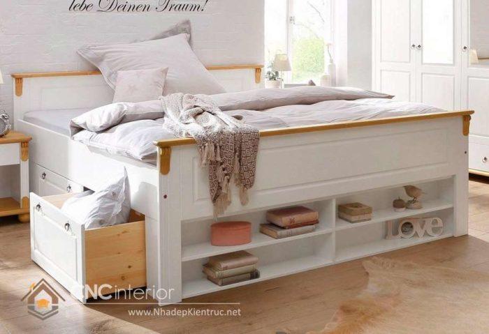 giường gỗ công nghiệp có ngắn kéo 7