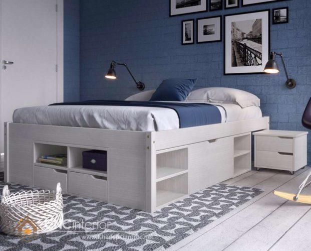 giường gỗ công nghiệp có ngắn kéo 9