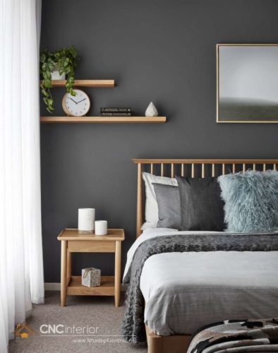 kệ sách treo tường trong phòng ngủ 1