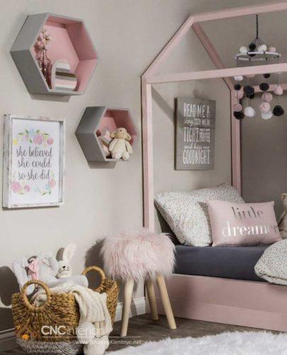 kệ sách treo tường trong phòng ngủ 20