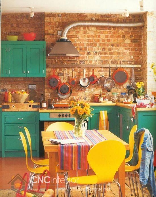 nhà bếp phong cách Retro 12