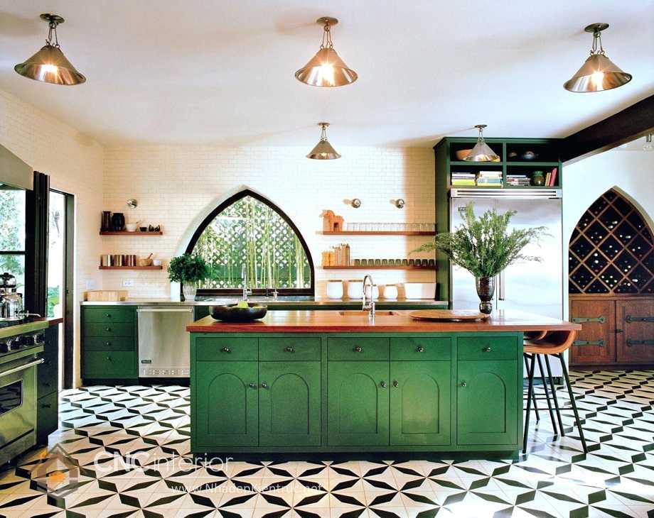 nhà bếp phong cách Đông Dương Indochine 7
