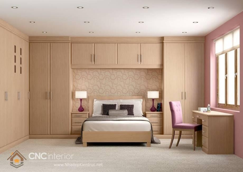 thiết kế tủ âm tường phòng ngủ 1
