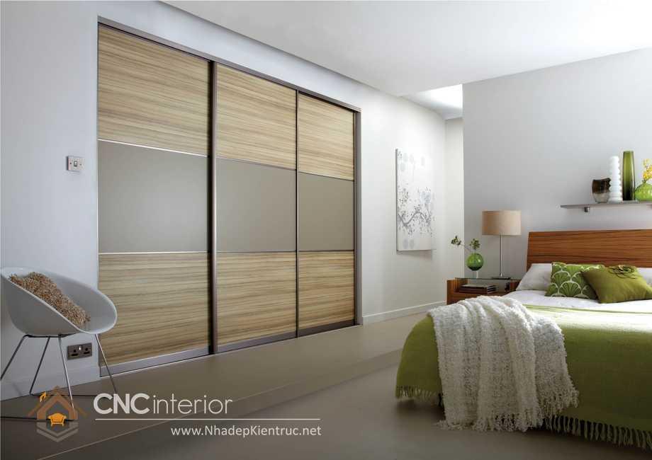 thiết kế tủ âm tường phòng ngủ cửa trượt 2