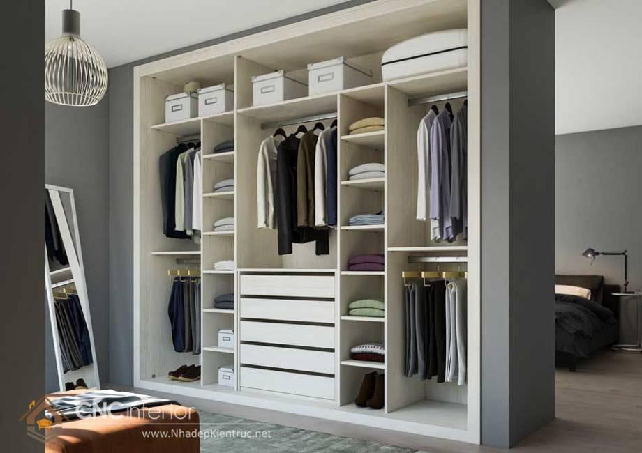 thiết kế tủ âm tường phòng ngủ 21