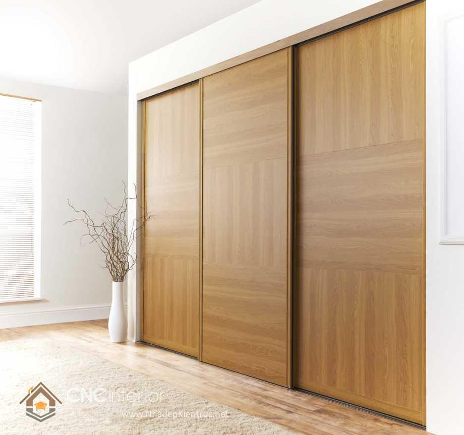 thiết kế tủ âm tường phòng ngủ cửa trượt 3