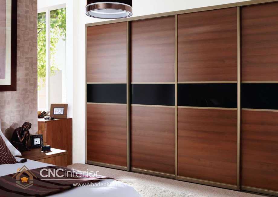 thiết kế tủ âm tường phòng ngủ cửa trượt 4