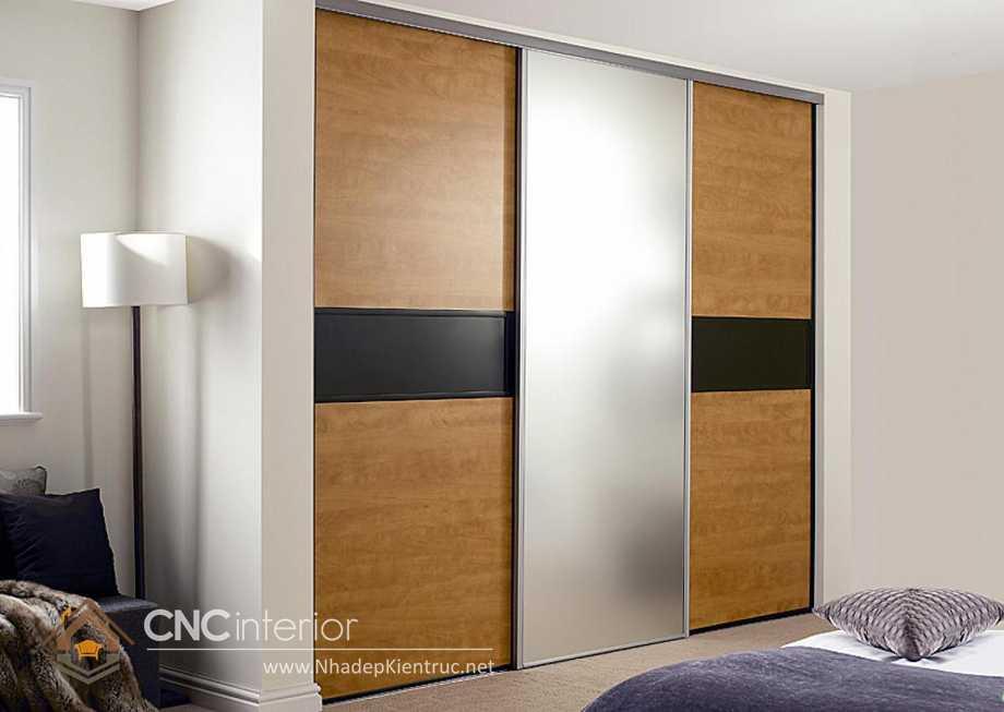 thiết kế tủ âm tường phòng ngủ cửa trượt 6