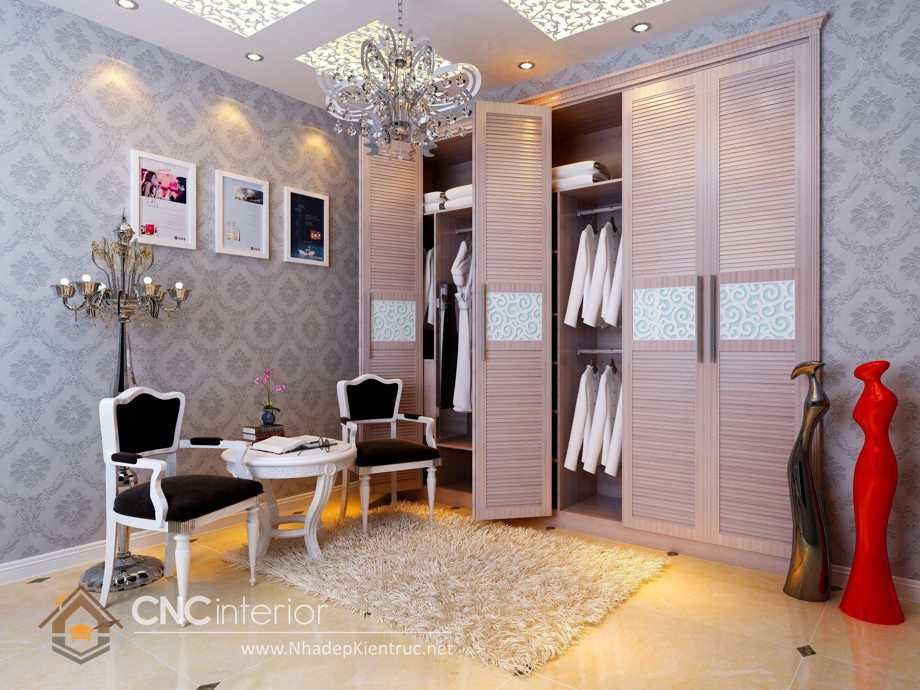 tủ quần áo âm tường cửa mở 8