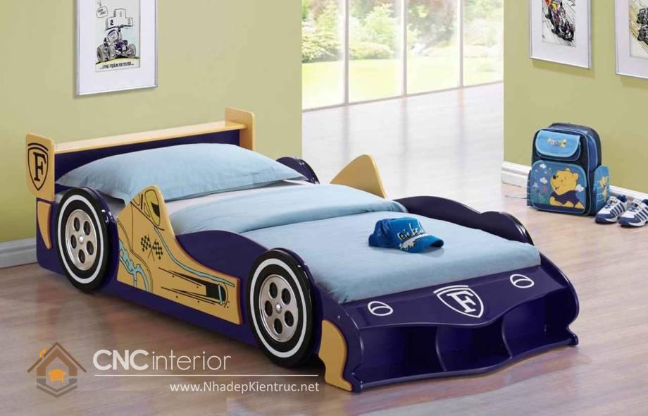 giường ngủ trẻ em hình ô tô 1