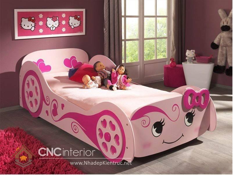 Giường ngủ ô tô dành cho bé gái 10