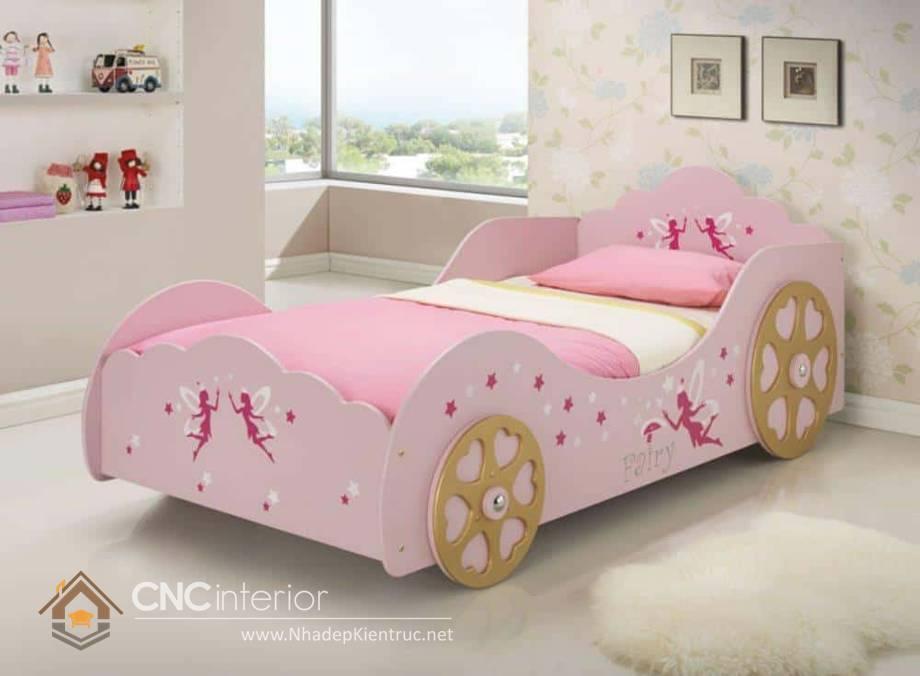 Giường ngủ ô tô dành cho bé gái 12