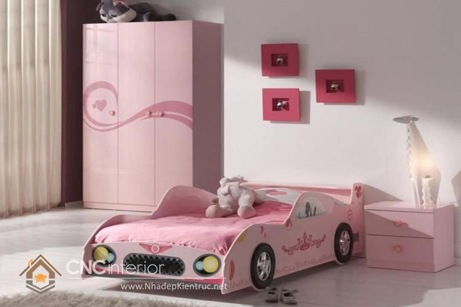 Giường ngủ ô tô dành cho bé gái 13