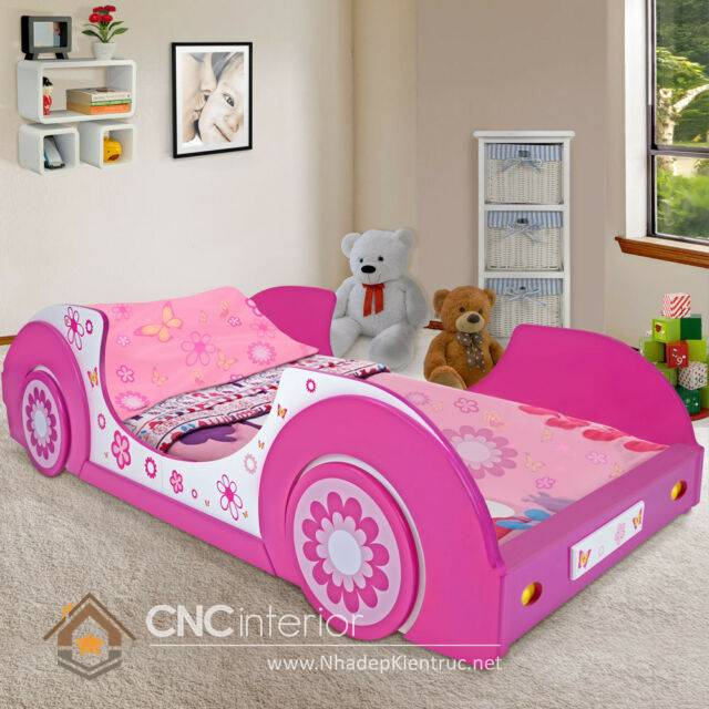Giường ngủ ô tô dành cho bé gái 14
