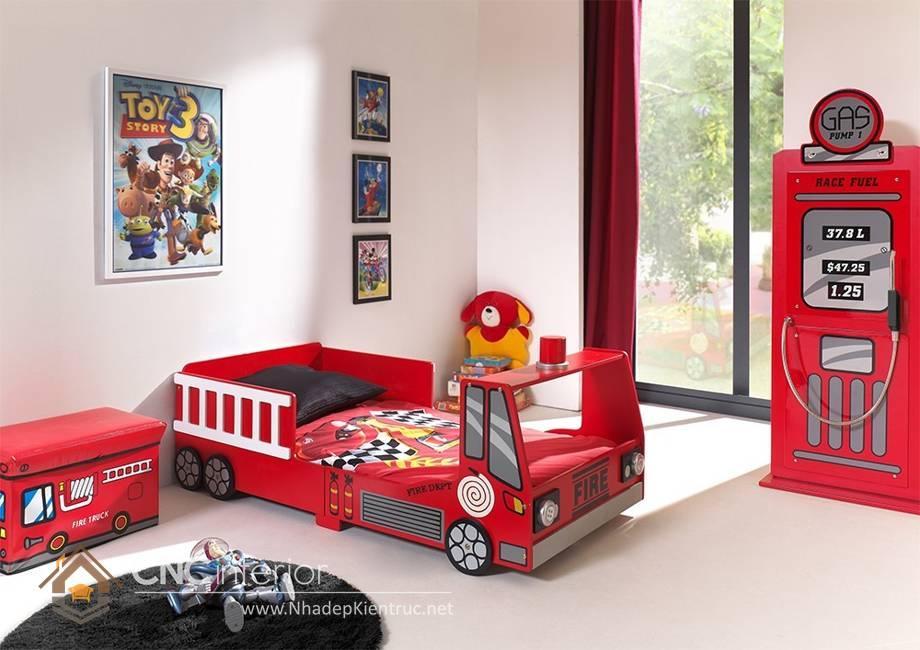 giường ngủ trẻ em hình ô tô 2