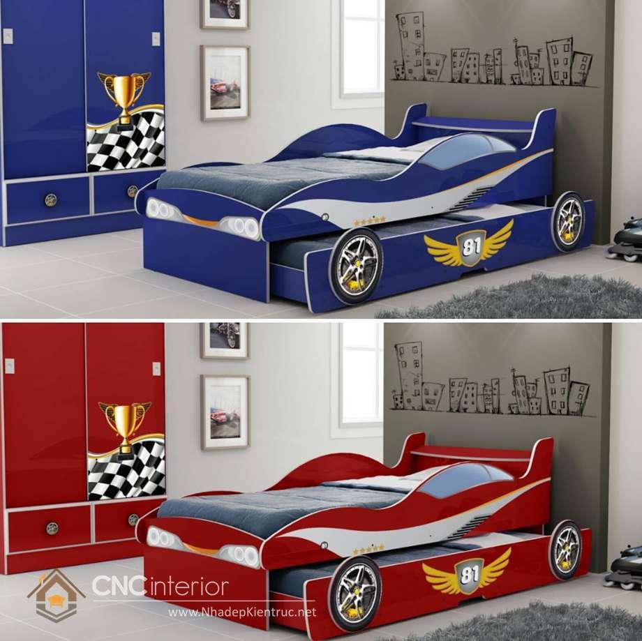 giường ngủ trẻ em hình ô tô 22