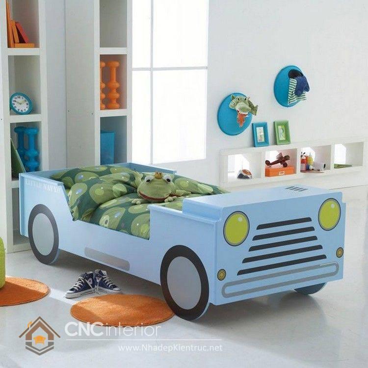 giường ô tô cho bé trai 6