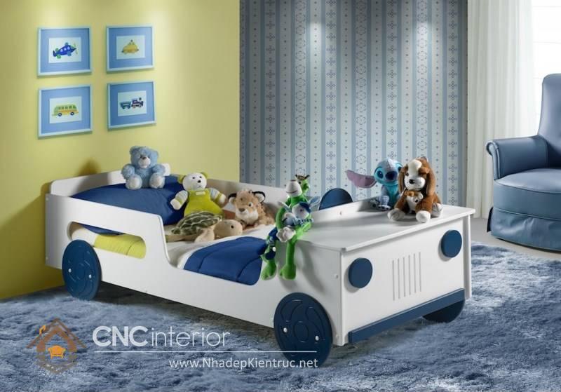 giường ô tô cho bé trai 7