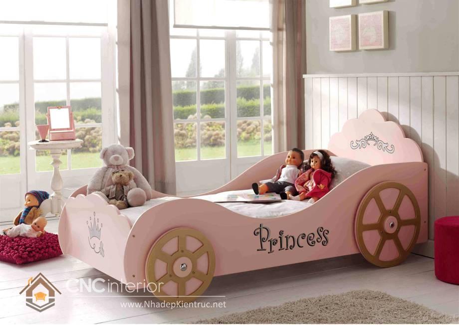 Giường ngủ ô tô dành cho bé gái 9