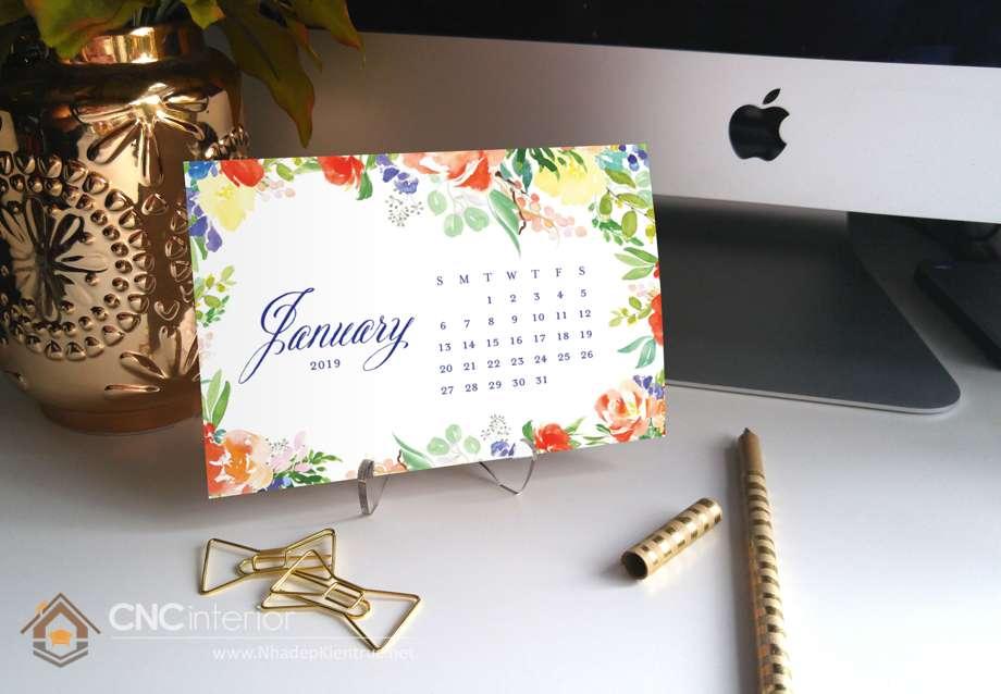 chọn lịch để bàn handmade trang trí bàn 2