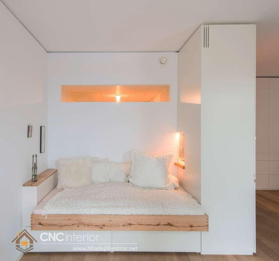giường ngủ trắng có hộc kéo 13