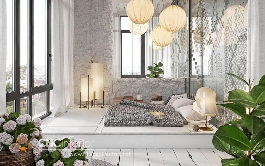 giường ngủ trắng có hộc kéo 14
