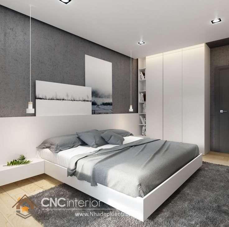 bộ giường ngủ màu trắng 25