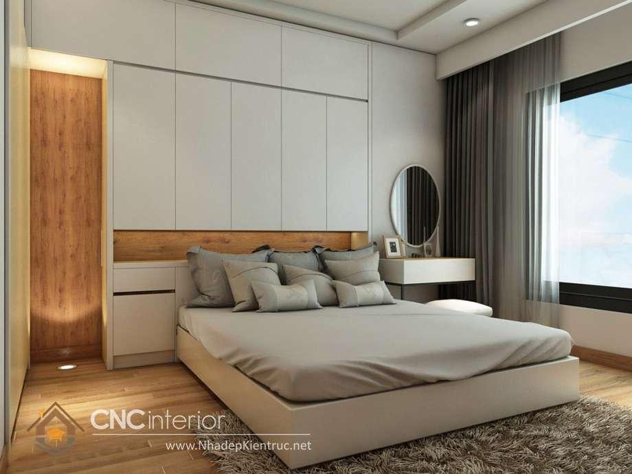 bộ giường ngủ màu trắng 26