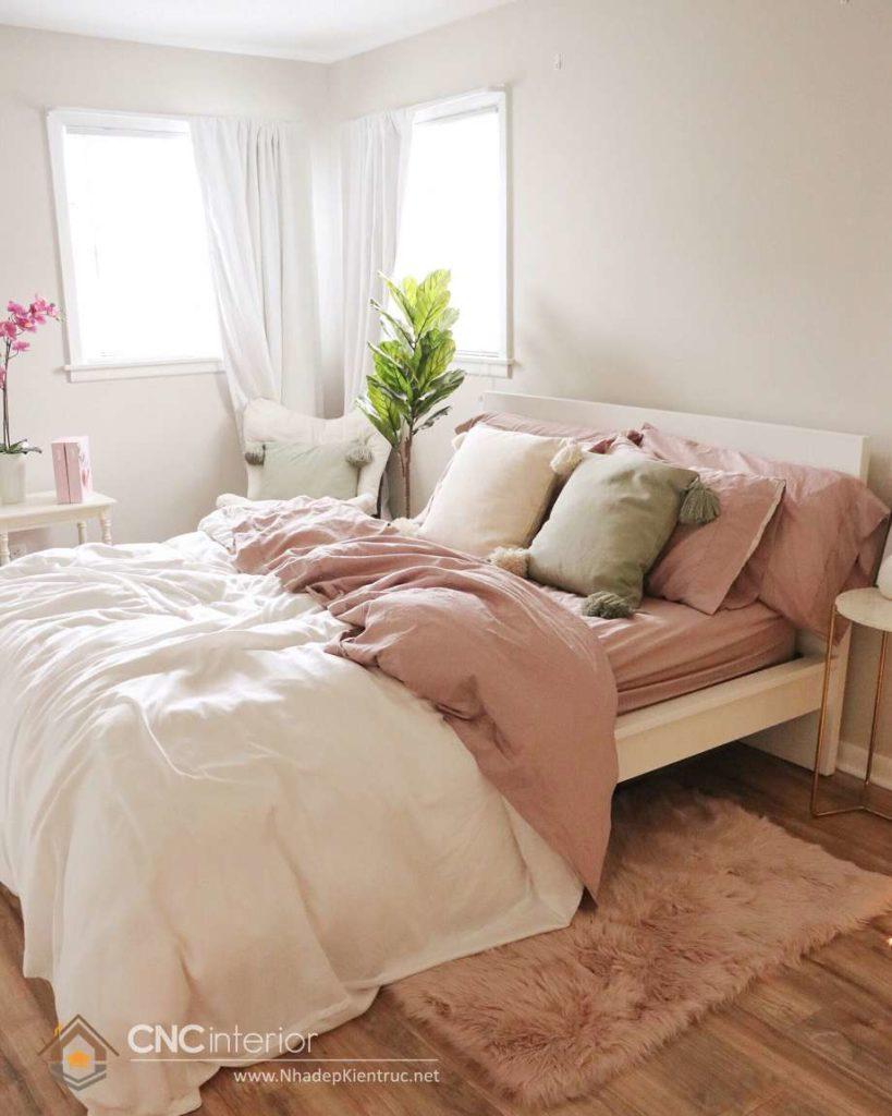 bộ giường ngủ màu trắng đẹp 3