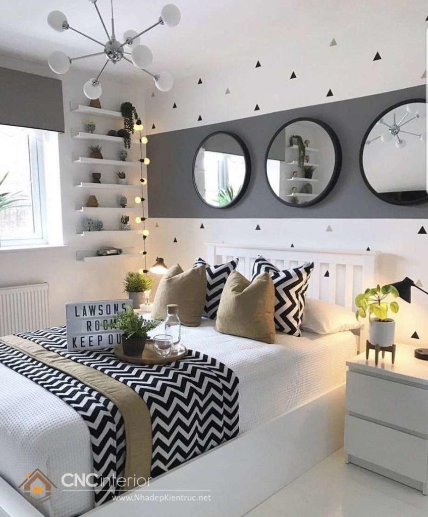 bộ giường ngủ màu trắng 29