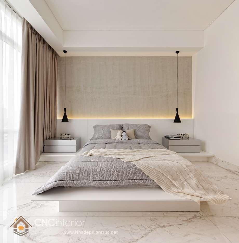 bộ giường ngủ màu trắng đẹp 4