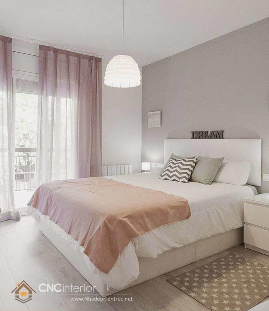 bộ giường ngủ màu trắng đẹp 5