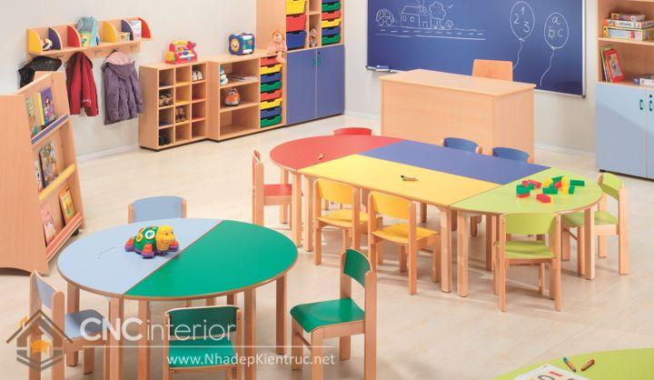 bàn học cho bé mẫu giáo 11