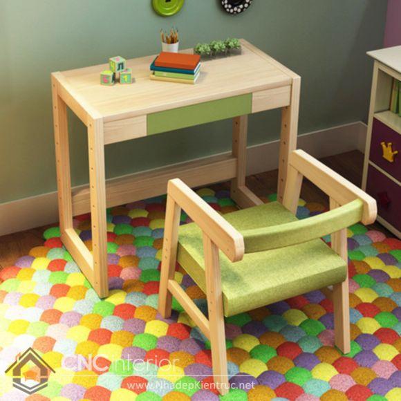 bàn học cho bé mẫu giáo 8