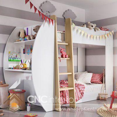có nên mua giường tầng cho bé 1