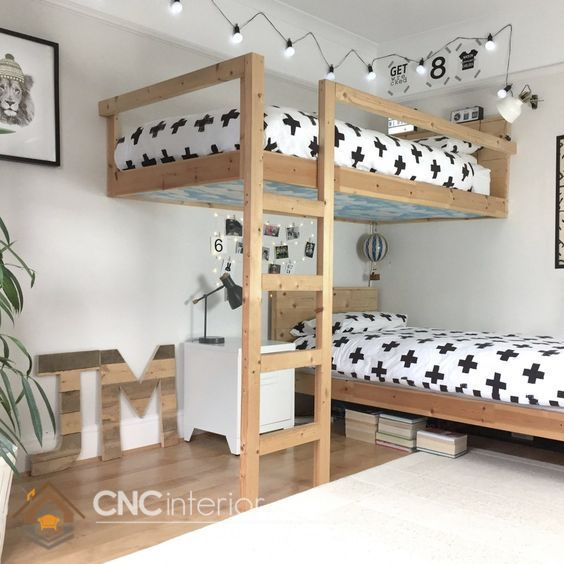 Lắp đặt thanh bảo vệ giường tầng cho bé
